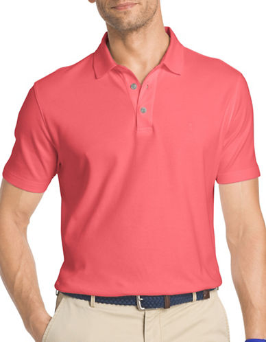 Izod Solid Interlock Polo-PINK-Medium