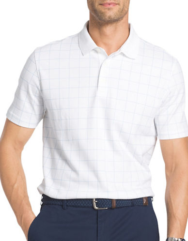 Izod Windowpane Interlock Polo-WHITE-Large