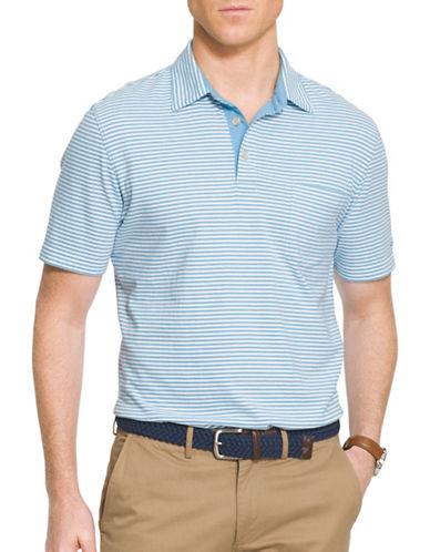 Izod Chatham Self Collar Stripe Polo-BLUE-XX-Large