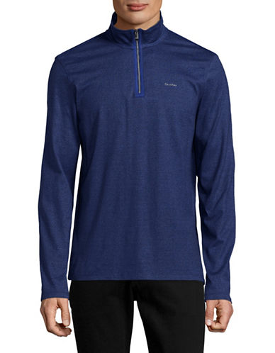 Calvin Klein Grindle Quarter-Zip Pullover-BLUE-Medium 89000847_BLUE_Medium