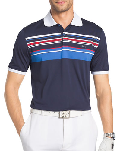 Izod Legends Engineered Polo-BLUE-Small