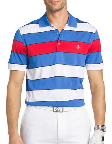 Izod Eagle Wide Striped Golf Polo-BLUE-Small 89221582_BLUE_Small