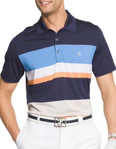 Izod Intrepid Engineered Stripe Printed Golf Polo-BLUE-Medium 89111457_BLUE_Medium