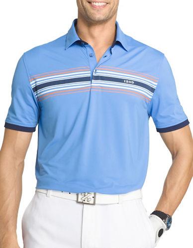 Izod Striped Golf Polo-BLUE-Medium 89111462_BLUE_Medium