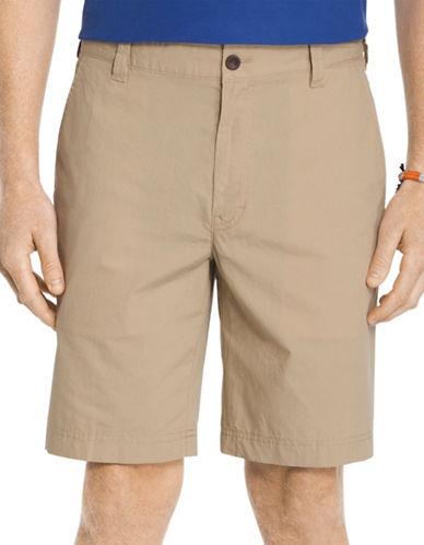 Izod Seaport Poplin Shorts-BEIGE-40
