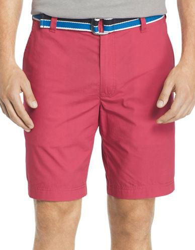 Izod Seaport Poplin Shorts-RED-38
