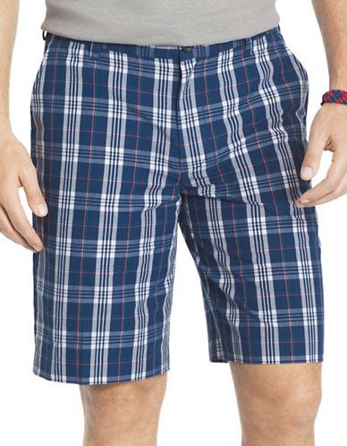 Izod Portsmith Plaid Shorts-BLUE-30