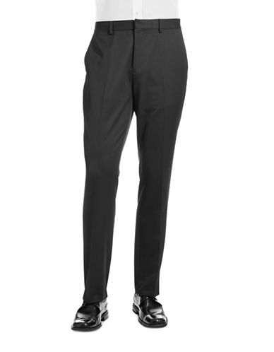 Calvin Klein Slim Fit Dress Pants-GREY-36X32