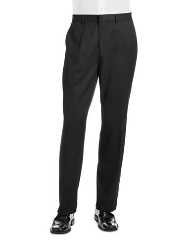 Calvin Klein Straight Fit Dress Pants-BLACK-36X32