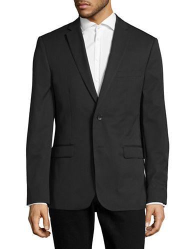 Calvin Klein Tic Stripe Slim Fit Jacket-BLACK-XX-Large
