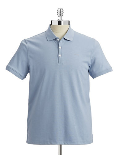 Calvin Klein Cotton Jersey Polo Shirt-LIGHT BLUE-XX-Large