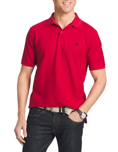 Izod Pique Polo Shirt-REAL RED-XX-Large