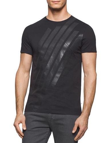 Calvin Klein Linear Mesh T-Shirt-BLACK-X-Large 88211044_BLACK_X-Large