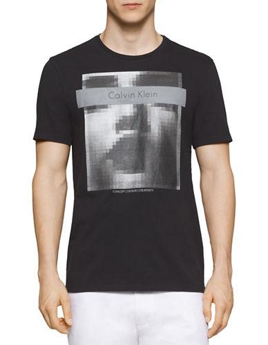 Calvin Klein Pixelated Graphic T-Shirt-BLACK-X-Large 88385910_BLACK_X-Large