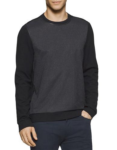 Calvin Klein Zip Trim Combo Sweatshirt-BLACK-Large 88513522_BLACK_Large