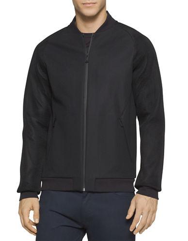 Calvin Klein Premium Ponte De Roma Bomber Jacket-BLACK-Medium 88513534_BLACK_Medium