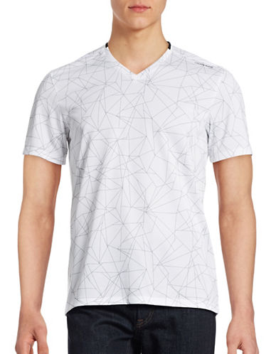 Calvin Klein Loose-Fit Printed Mesh T-Shirt-WHITE-Medium 88516015_WHITE_Medium