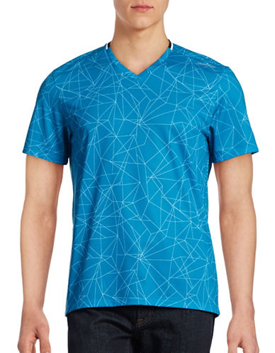 Calvin Klein Loose-Fit Printed Mesh T-Shirt-BLUE-X-Large 88516013_BLUE_X-Large