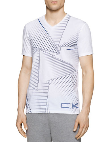 Calvin Klein Performance Triangle Graphic T-Shirt-WHITE-Large 88386073_WHITE_Large