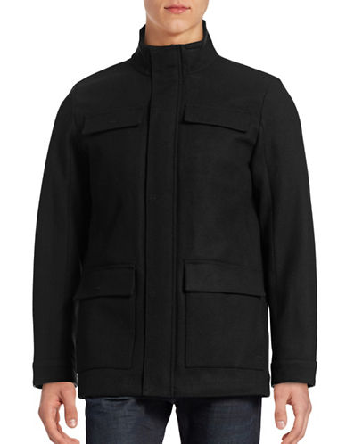 Calvin Klein Four-Pocket Wool-Blend Coat-BLACK-Small 88779996_BLACK_Small