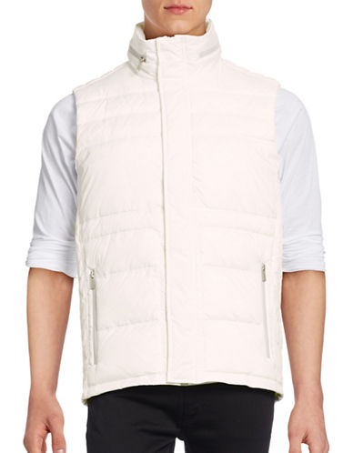 Calvin Klein Puffer Vest-WHITE-Large