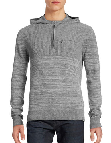 Calvin Klein Knit Hooded Sweater-GREY-Large 88626591_GREY_Large