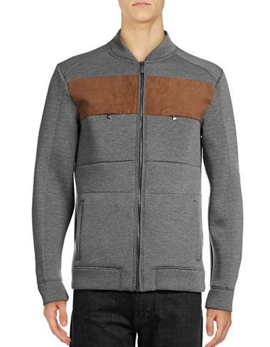 Calvin Klein Combo Scuba-Knit Jacket-GREY-Small 88885732_GREY_Small