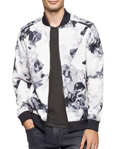 Calvin Klein Allover Print Bomber Jacket-WHITE-Large 88914153_WHITE_Large