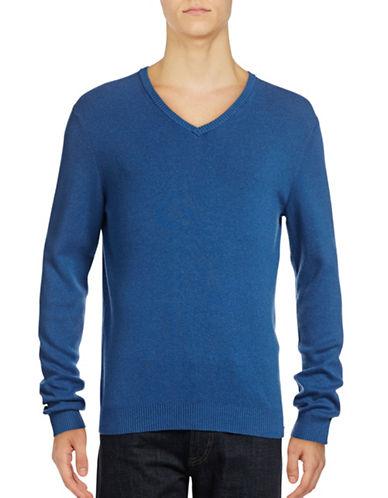 Calvin Klein V-Neck Pullover-BLUE-Large 88914966_BLUE_Large