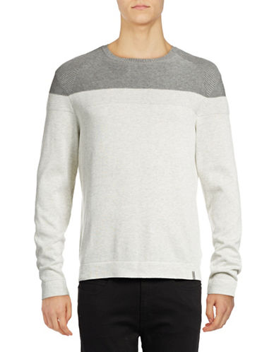 Calvin Klein Colourblock Pullover-GREY-X-Large 88914987_GREY_X-Large