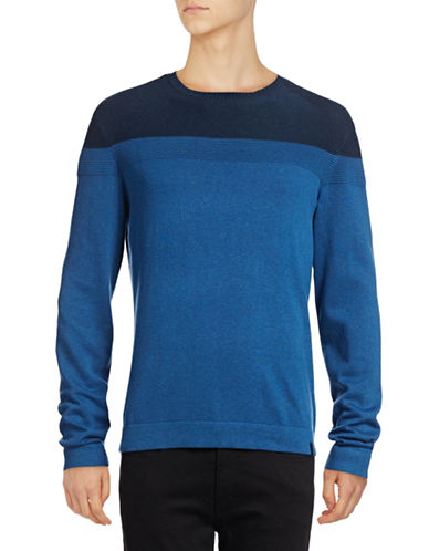 Calvin Klein Colourblock Pullover-BLUE-Large 88914990_BLUE_Large
