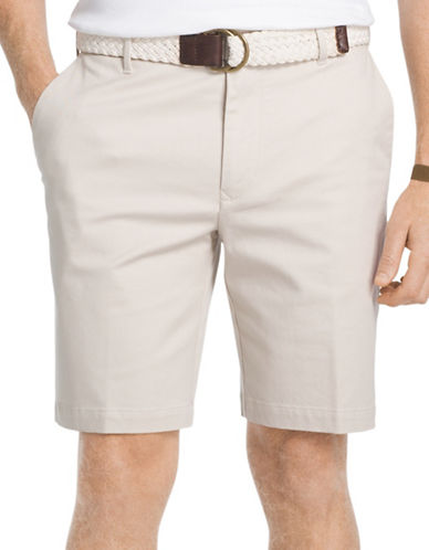 Izod Advantage Stretch Twill Shorts-BEIGE-38