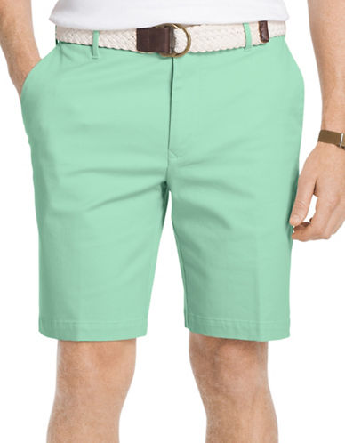Izod Advantage Stretch Twill Shorts-GREEN-40