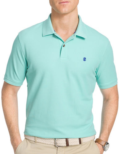Izod Slim-Fit Advantage Polo-GREEN-Large