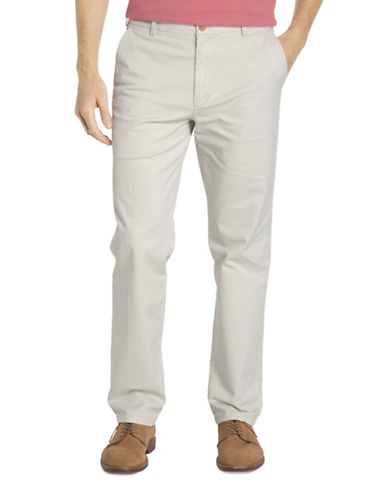 Izod Slim Fit Saltwater Stretch Chinos-BEIGE-40