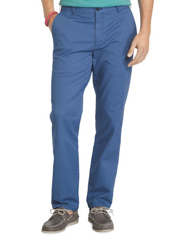 Izod Slim Fit Saltwater Stretch Chinos-MEDIUM BLUE-40