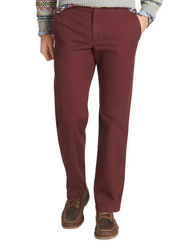 Izod Slim Fit Saltwater Stretch Chinos-DARK RED-32