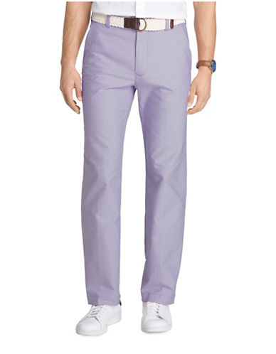 Izod Oxford Straight Leg Pants-BLUE-40