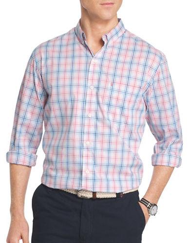 Izod Woven Poplin Shirt-PINK-X-Large