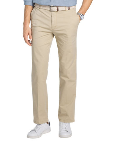 Izod Slim Fit Saltwater Stretch Chinos-KHAKI-40