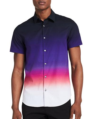 Calvin Klein Slim-Fit Short Sleeve Shirt-PURPLE-Small
