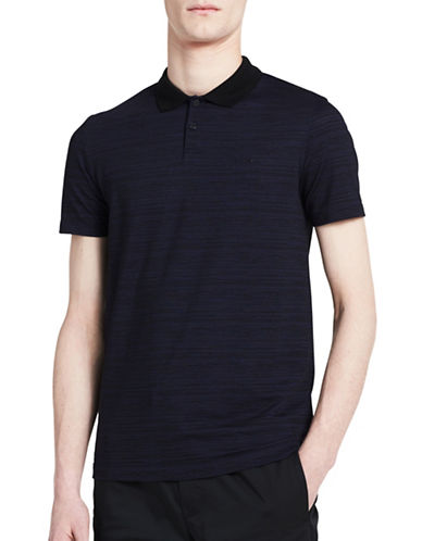 Calvin Klein Mesh Plated Jersey Polo-BLUE-Small