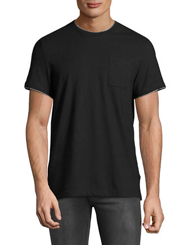Calvin Klein Contrast Crew Neck T-Shirt-BLACK-Small 89224487_BLACK_Small