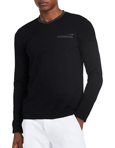 Calvin Klein Slim-Fit Sweatshirt-BLACK-Large