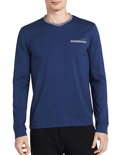 Calvin Klein Slim-Fit Sweatshirt-BLUE-Small