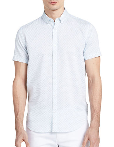 Calvin Klein Mini Linear Logo Print Shirt-WHITE-Small