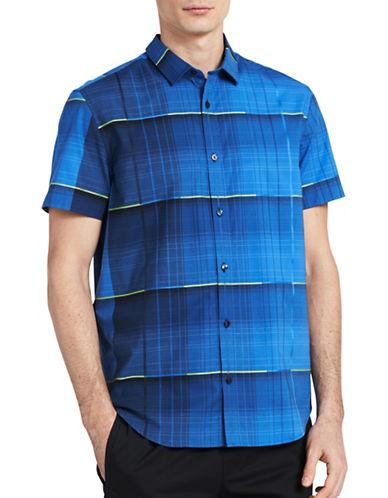Calvin Klein Slim-Fit Stripe Print Shirt-BLUE-X-Large