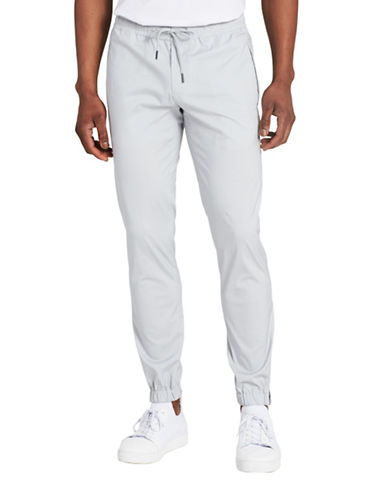 Calvin Klein Solid Slim Fit Joggers-GREY-Large