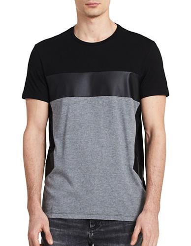 Calvin Klein Slim Fit Colourblock T-Shirt-BLACK-Large 89224481_BLACK_Large