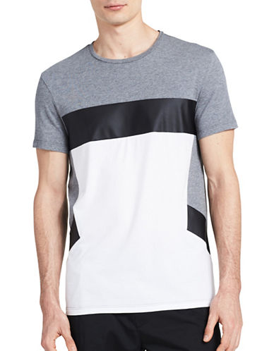 Calvin Klein Slim Fit Colourblock T-Shirt-GREY-X-Large 89224486_GREY_X-Large